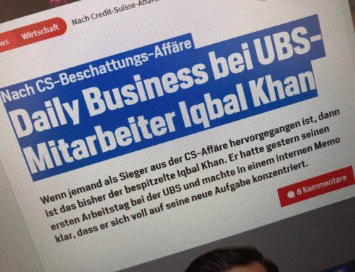 Nach CS-Beschattungs-Affäre  Daily Business bei UBS-Mitarbeiter Iqbal Khan